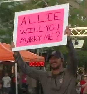 Man pops the question at 20th Annual Race for Research in Atlanta